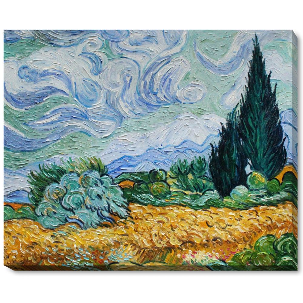 Wheat Field with Cypresses Gallery Wrap
