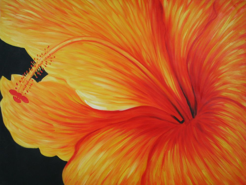 Golden Hibiscus (Left) Gallery Wrap