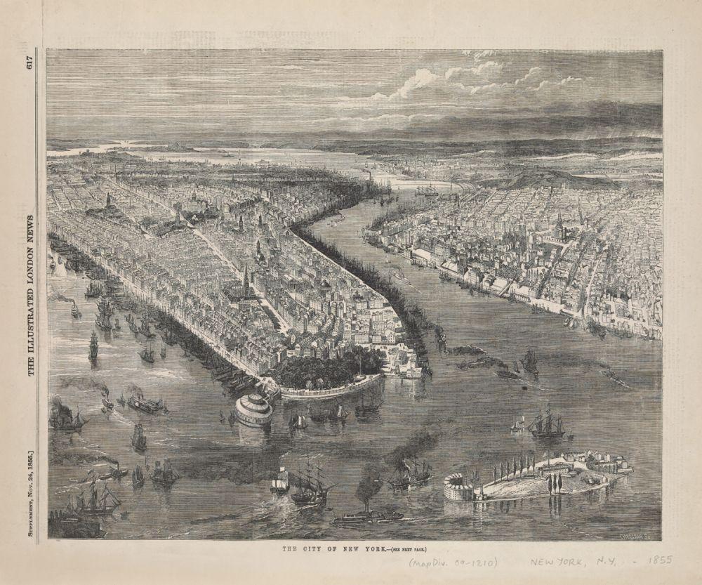 Bird's Eye View of New York