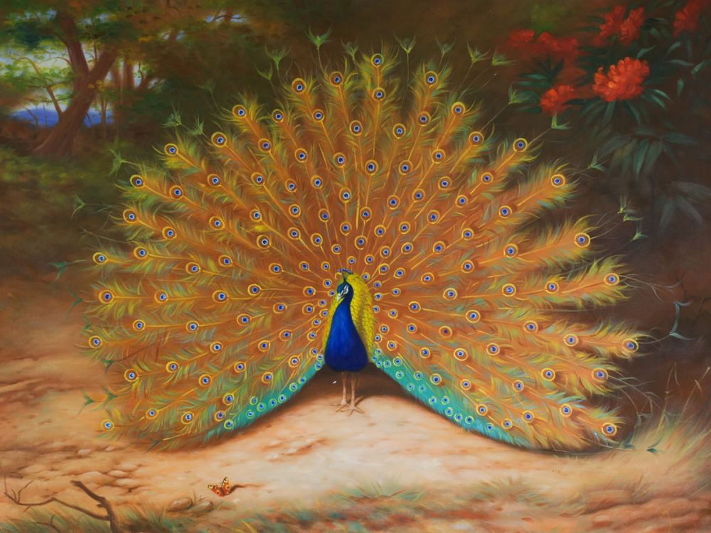 Peacock and Peacock Butterfly, 1917