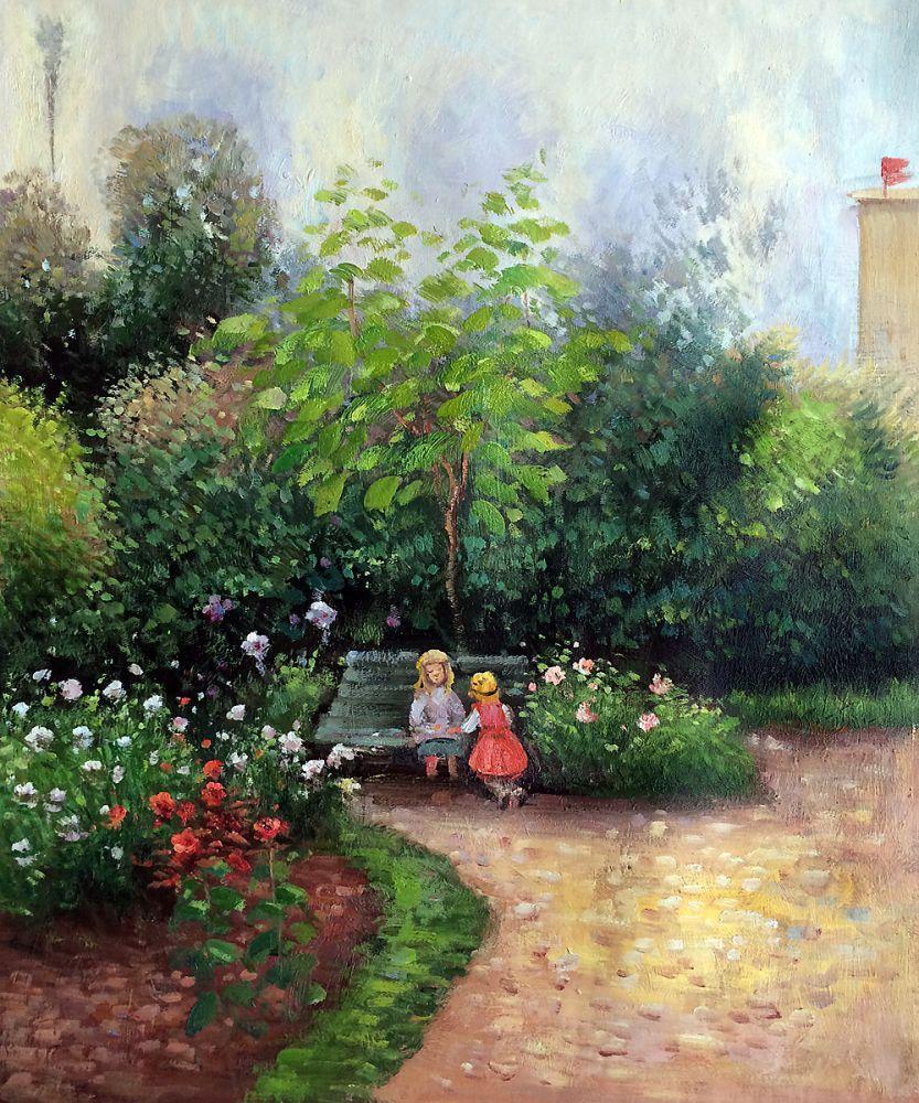 A Corner of the Garden at HermitageBoulevard Montmartre, Spring