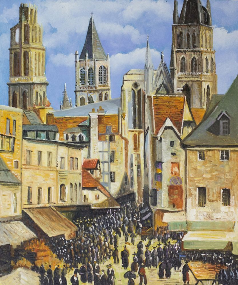 The Old Market at Rouen and the Rue de l'Epicerie