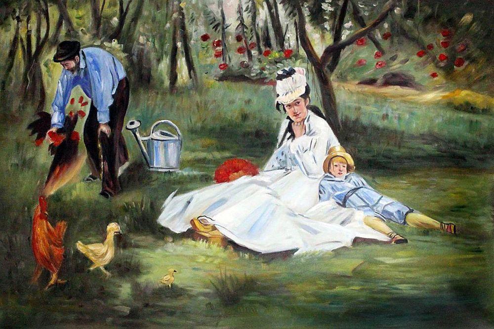 The Monet Family in the Garden