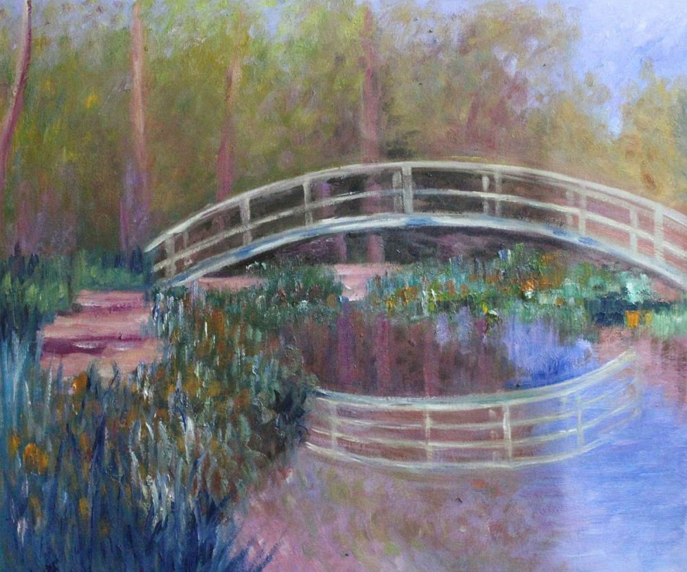 The Water-Lily Pond, Water Irises