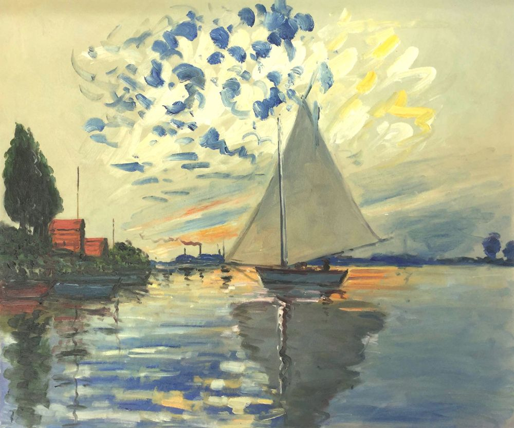 Sailboat at Le Petit-Gennevilliers