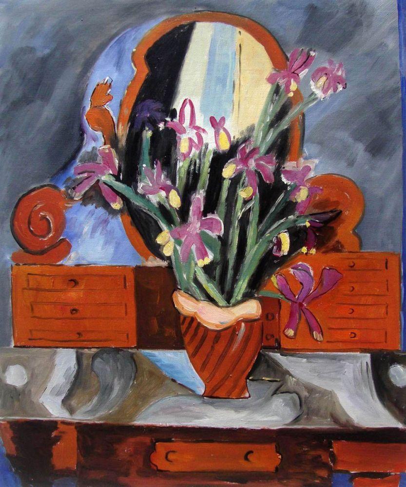 Vase with Iris