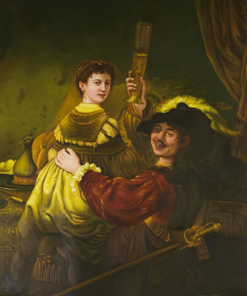 Rembrandt and Saskia in the Parable of the Prodigal So