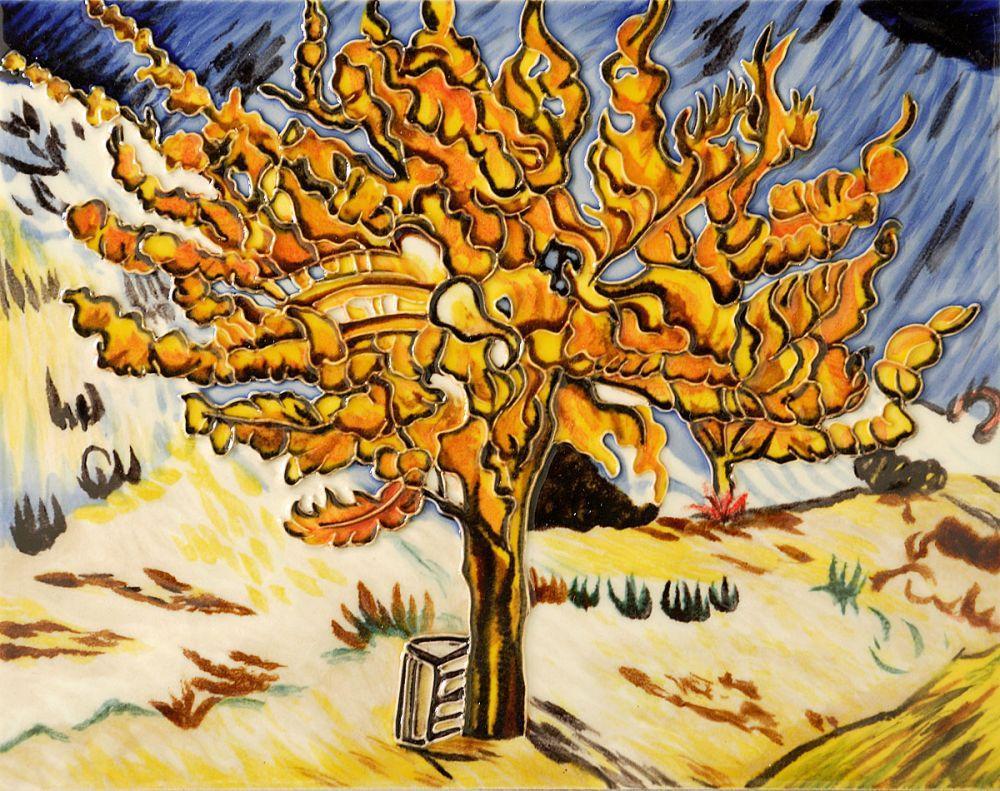 The Mulberry Tree (artist interpretation) Trivet/Wall Accent Tile