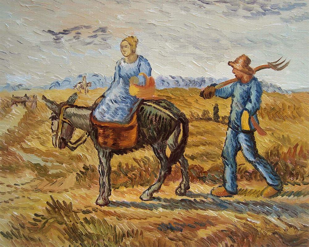 Peasant Couple Going To Work