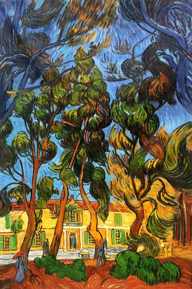 Trees in the Garden of St. Paul Hospital