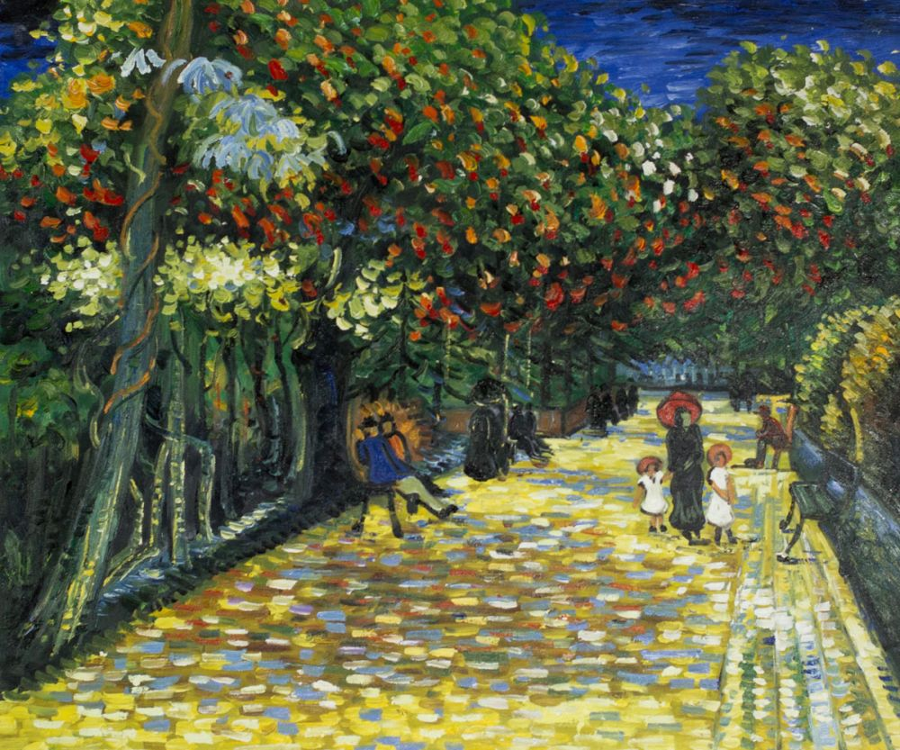 Avenue with Flowering Chestnut Trees at Arles