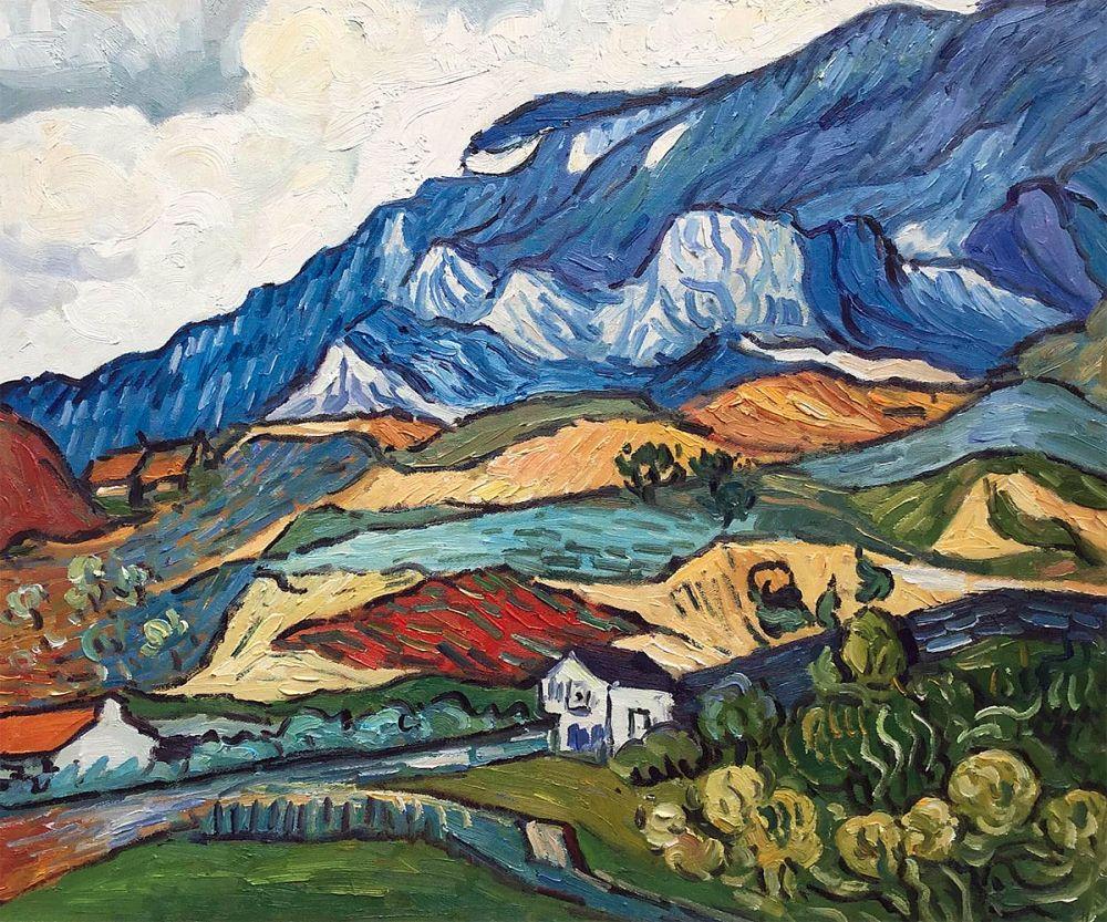 Les Alpilles, Mountain Landscape near South-Reme, 1889