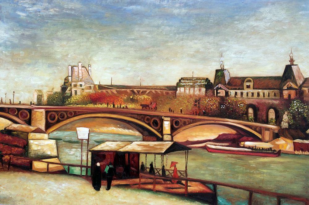 The Pont du Carrousel and the Louvre, 1886