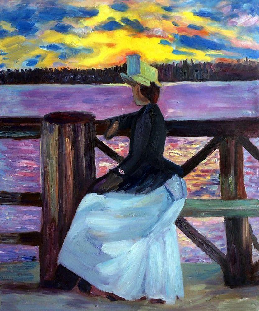 Marie Gallen at the Kuhmoniemi-bridge