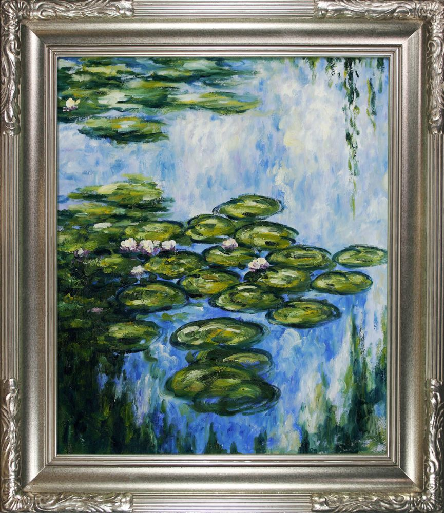 Water Lilies (vertical) Pre-Framed