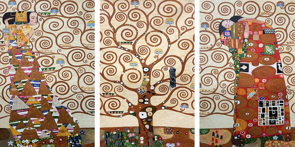 The Tree of Life, Stoclet Frieze, 1909 (Triptych)
