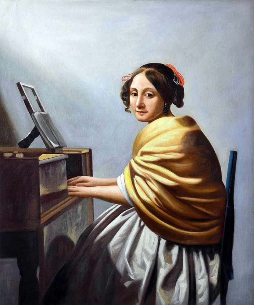 Young Woman Seated at the Verginals