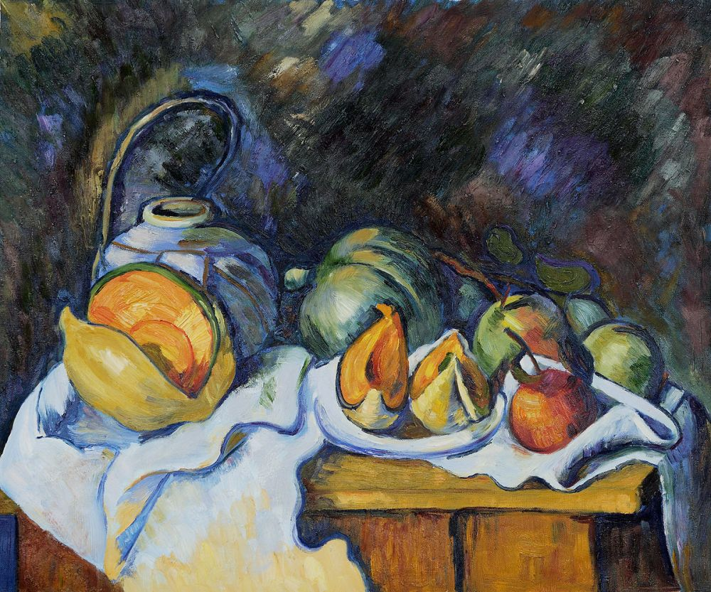 Still Life with Melons and Apples