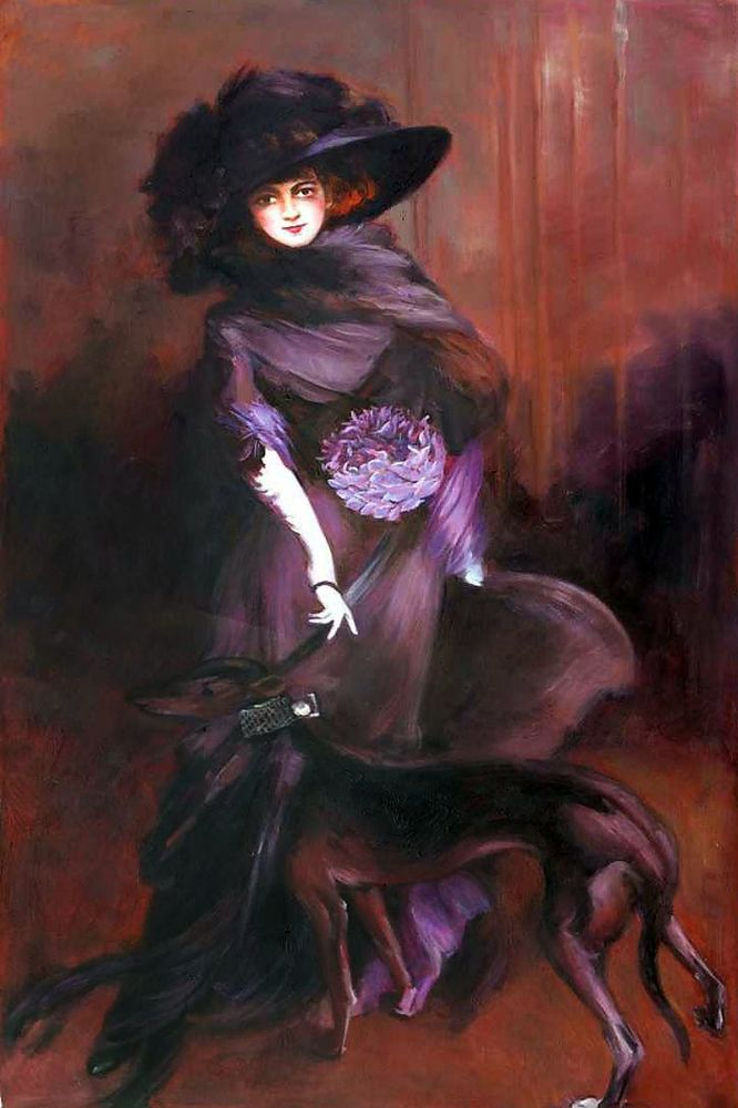 Portrait of the Marchesa Luisa Casati with a Greyhound, 1908