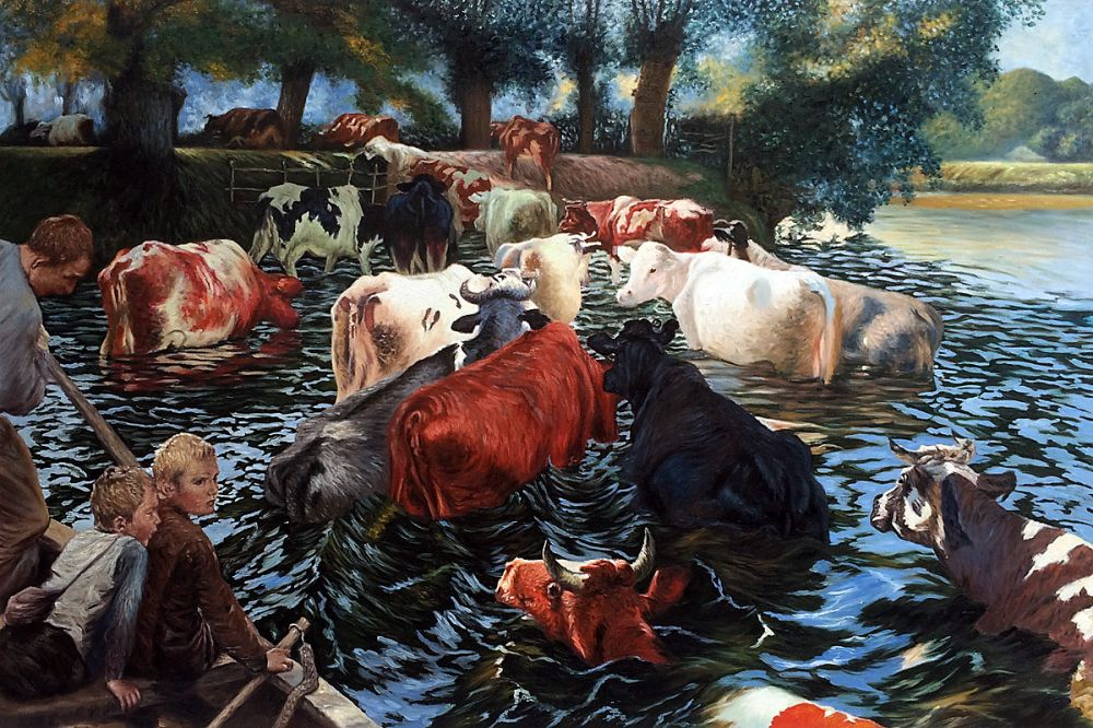 Cows Crossing The Lys River, 1899