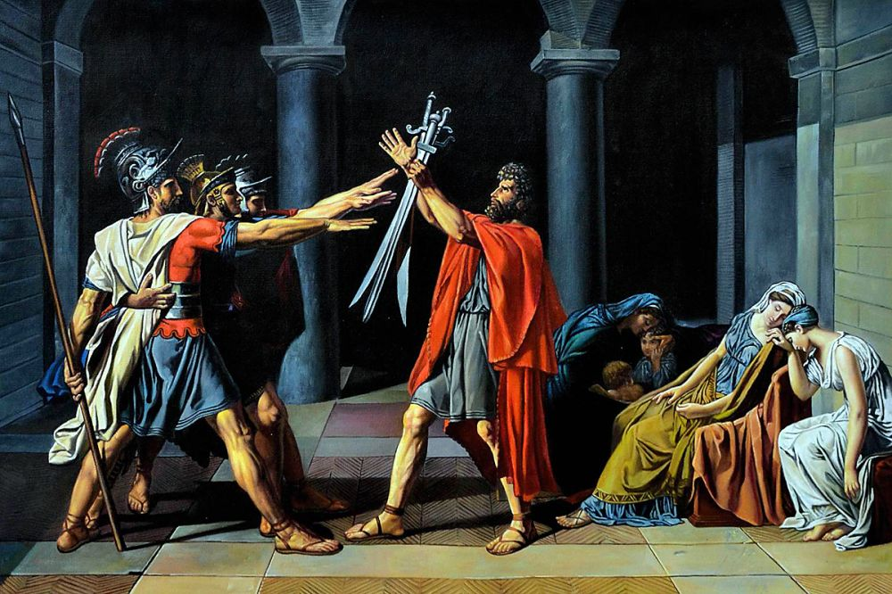 Oath of the Horatii, 1784-1785