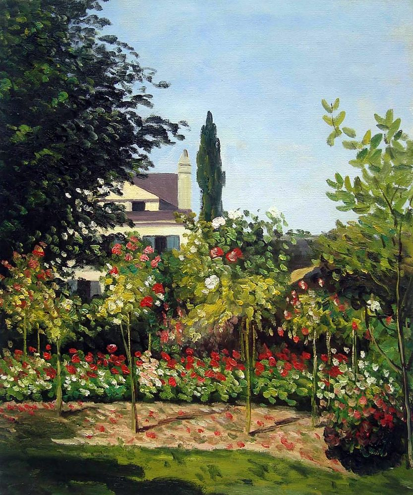 Garden in Bloom at Sainte Addresse, 1866