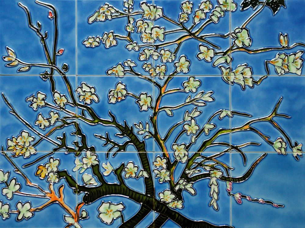Branches of an Almond Tree Mural Wall Tiles