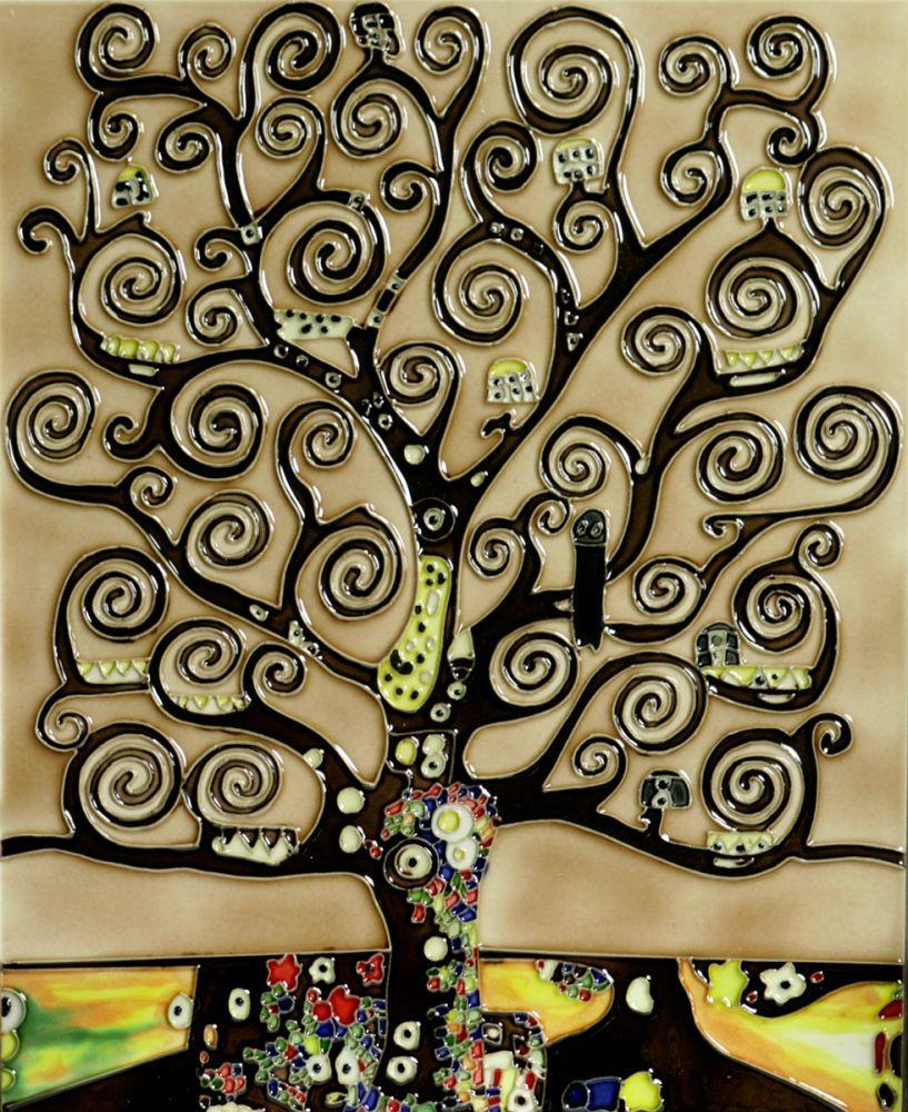 Tree of Life Trivet/Wall Accent Tile (felt back)