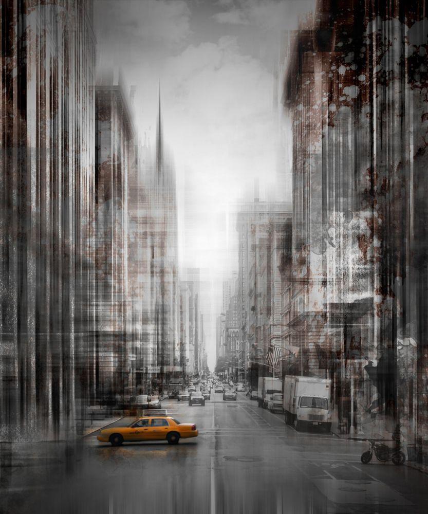 City Art, NYC 5th Avenue Yellow Cab