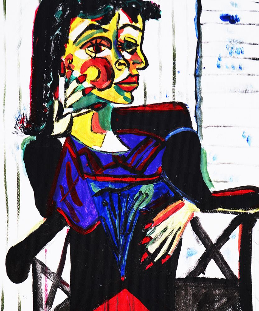 Picasso by Nora, Black Chair