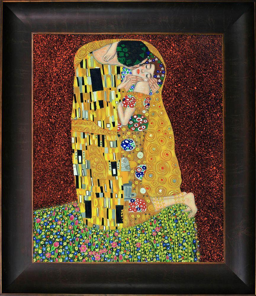 The Kiss (Full View) Pre-Framed
