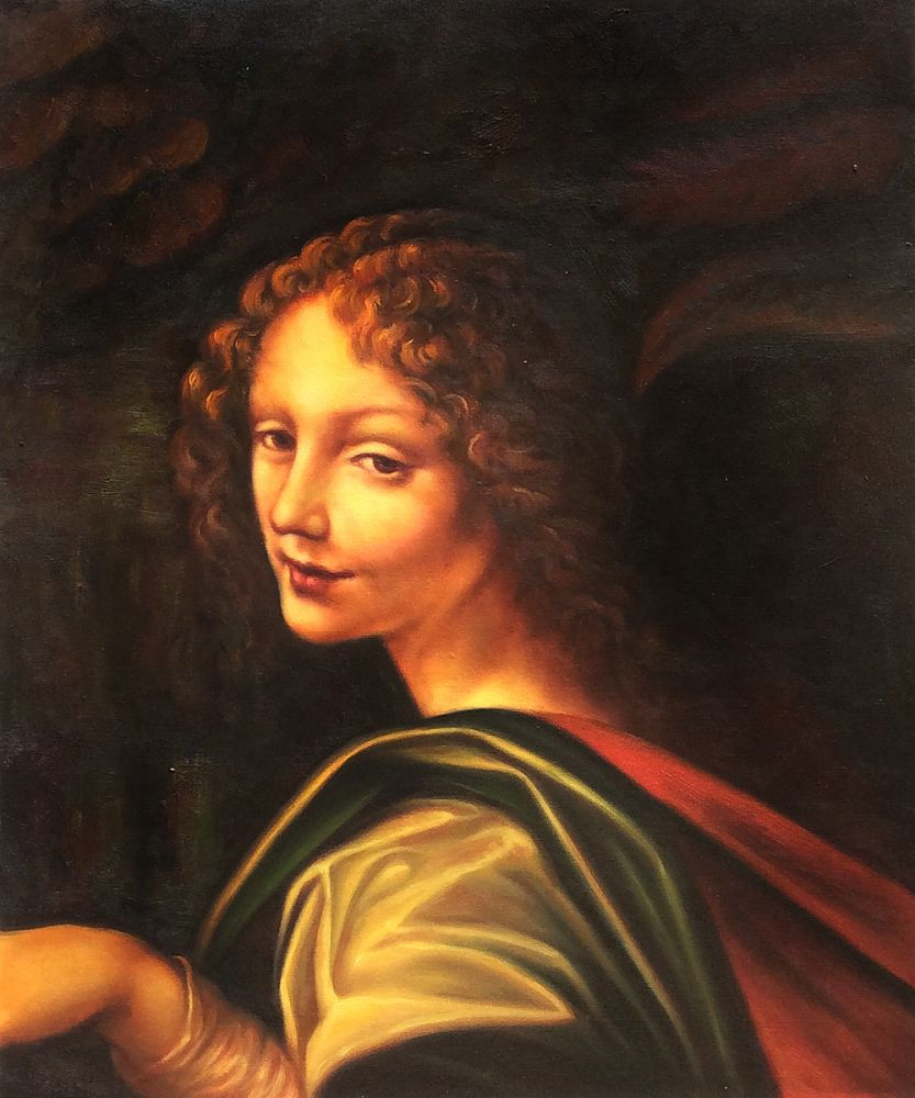 The Virgin of the Rocks (detail - young woman)