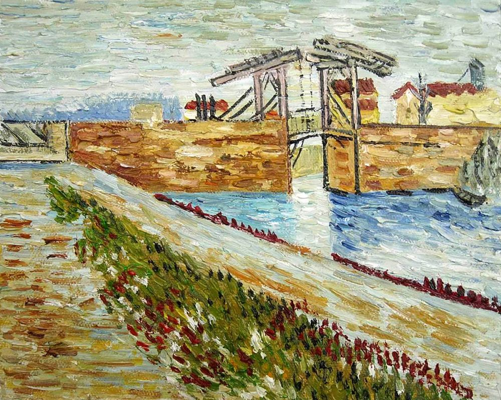 Langlois Bridge at Arles with Road Alongside the Canal