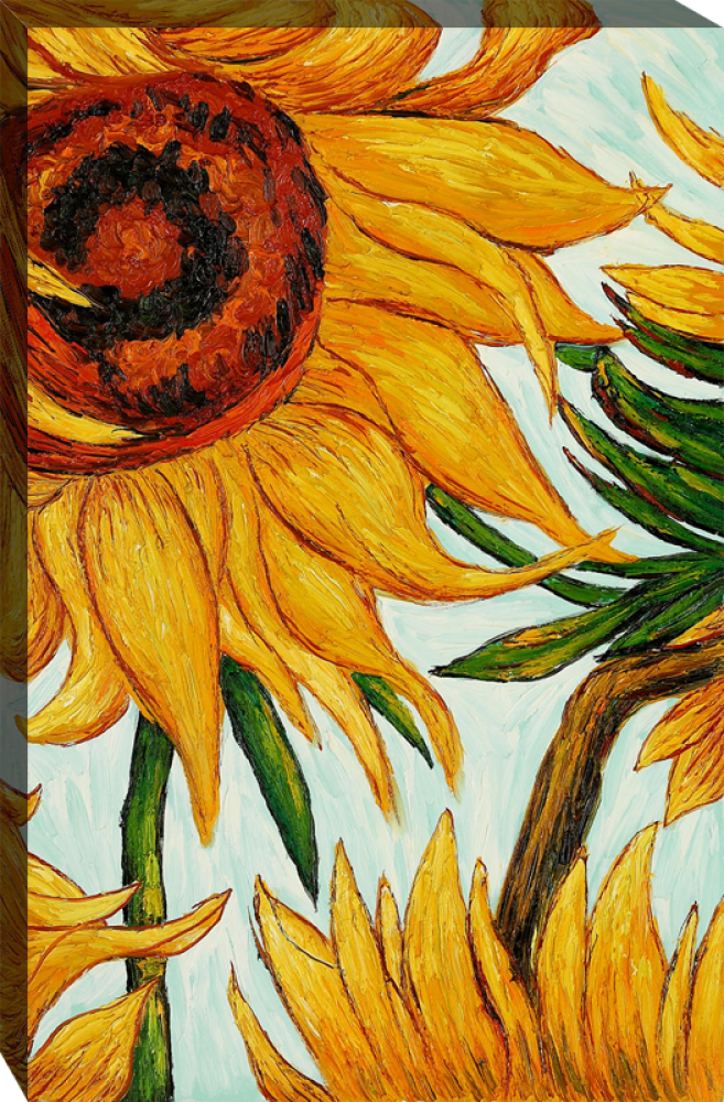 Sunflowers (detail) Gallery Wrap