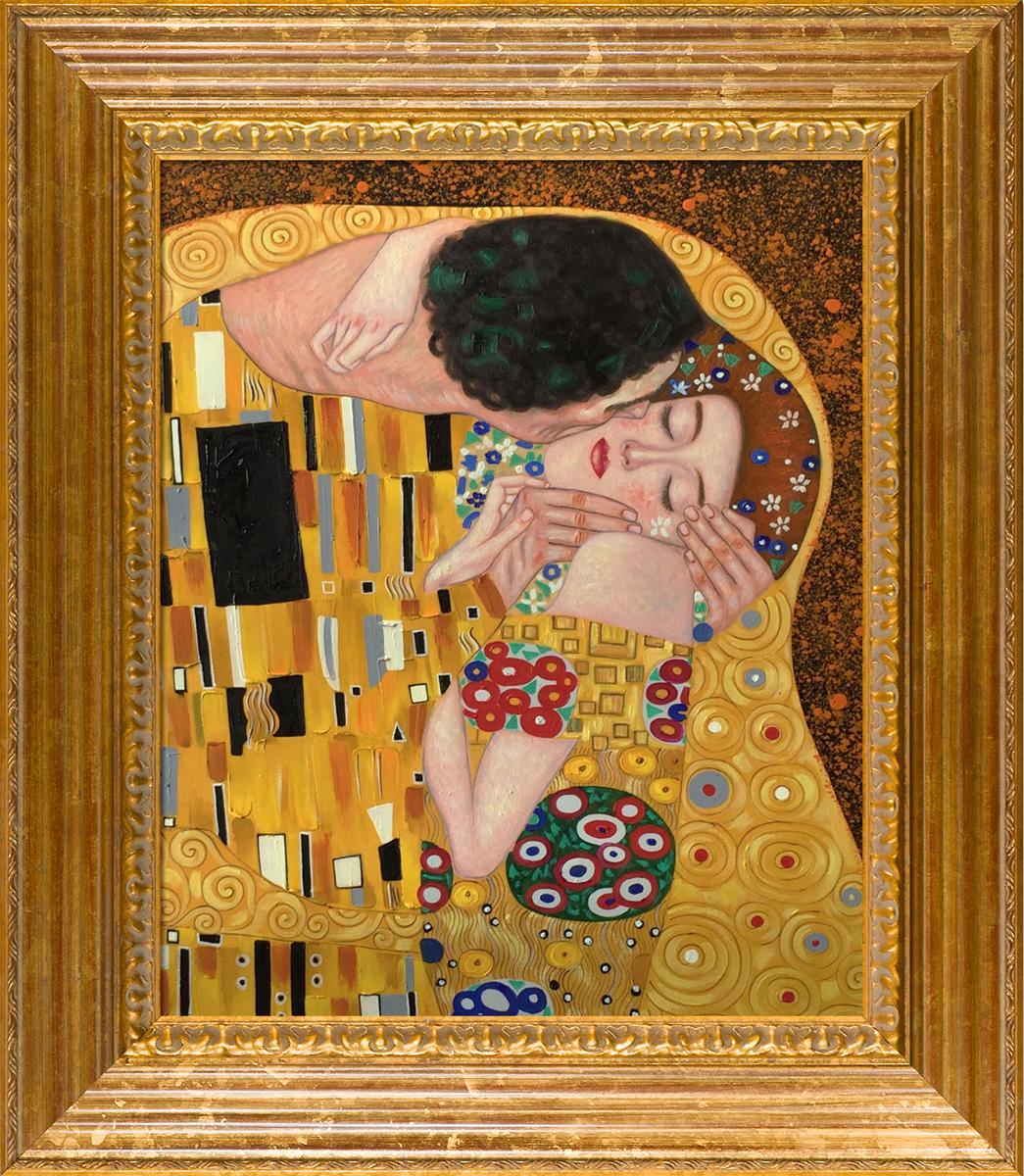 The Kiss - Pre-Framed Gold