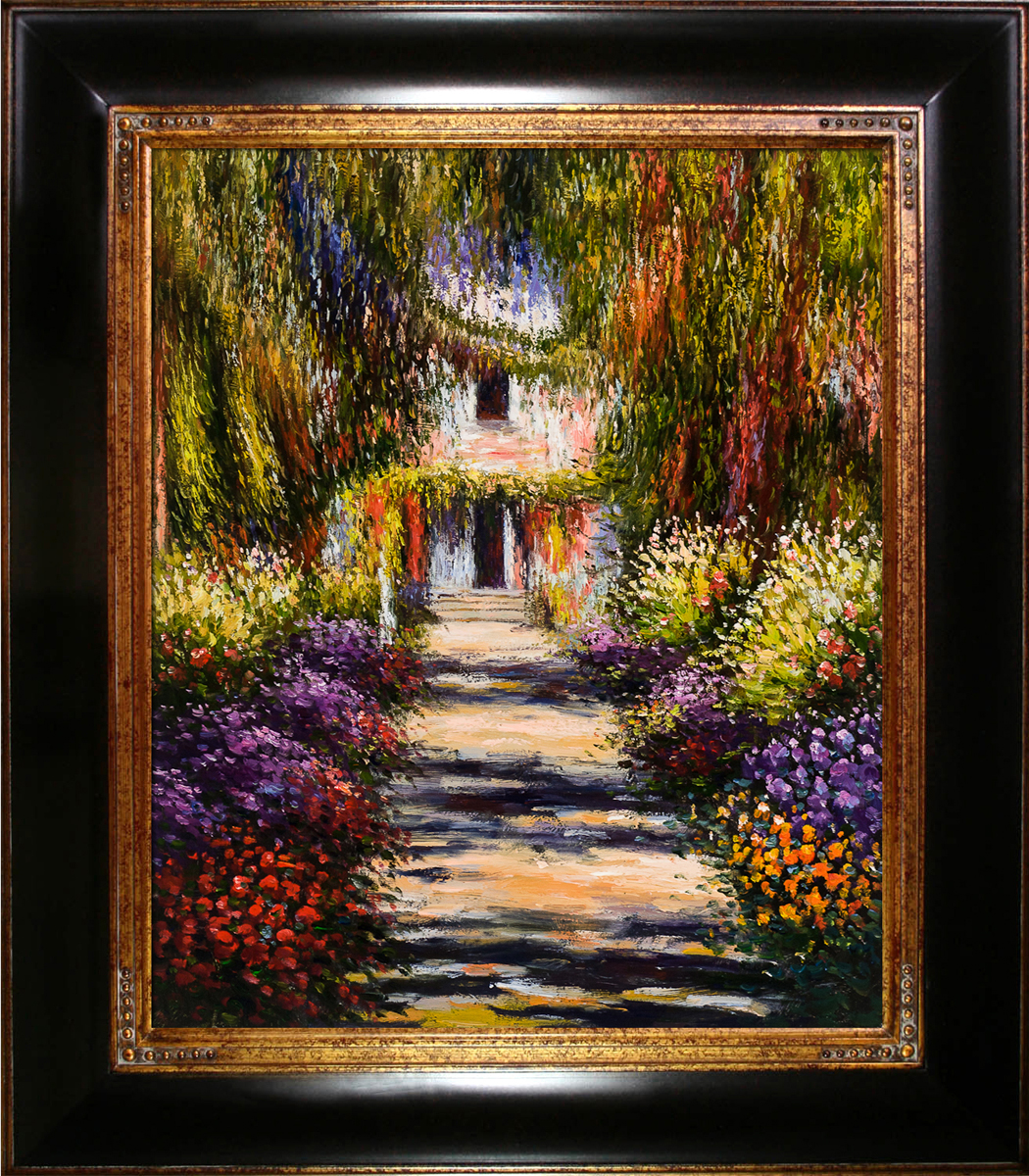 Garden Path at Giverny Pre-Framed