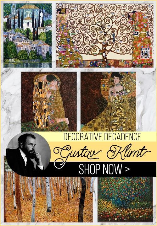 Gustav Klimt Paintings - Warm, Modern, and Elegant.