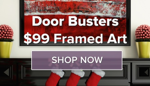 Door Buster Decor Deals - Framed art for $99.