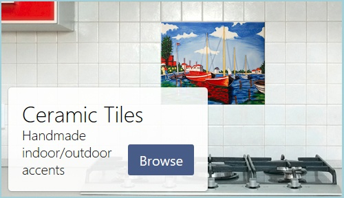 Color Ceramic Accent Tiles for Indoor/Outdoor Decor