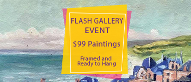 $99 Framed Art Flash Deal!