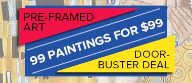 99 Framed Oil Paintings for $99!