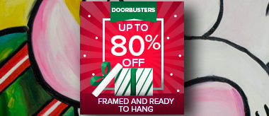 Up to 80% Off Framed Art Doorbusters!