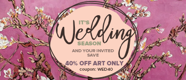 Wedding Season Sale: Save 40% Off All Art!