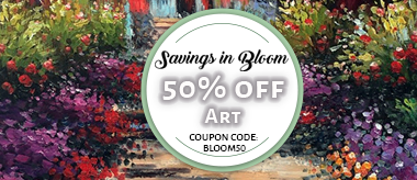 Savings in Full Bloom: Save 50% Off All Art