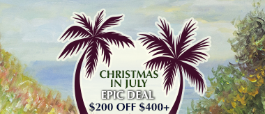 Christmas in July Epic Deal: $200 Off $400+ Orders!