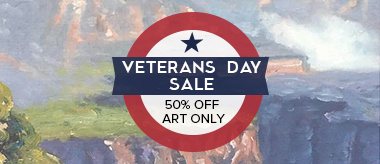 VETERANS DAY 50% OFF ART SALE