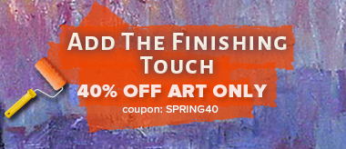 Finishing Touch Sale: Save 40% Off All Art!