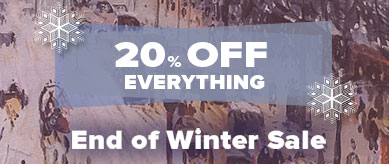 The End of Winter Sale: Save 20% Off Art and Frames.