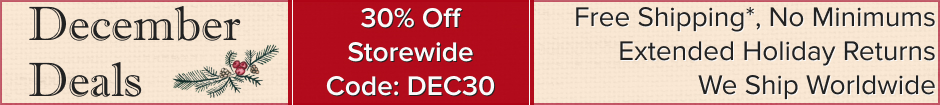 December Deals! Save 30% for a limited time. Use code DEC30.