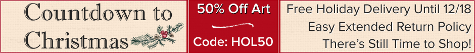 Happy Holidays! 50% Off Art sale. Use code HOL50.